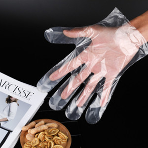 100Pcs Bag Plastic Disposable Gloves Food Grade Waterproof Transparent Gloves Gloves for Kitchen Cooking Cleaning Food Handling