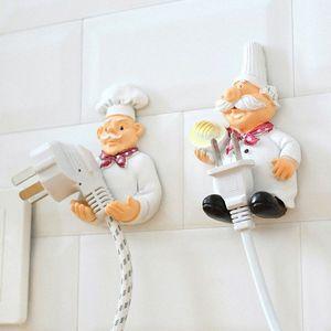 Cuisine Hanger Support Branchez Organisateur Socket Cordon d'alimentation Support de rangement étagère Support mural collant crochet adhésif force Et0u #