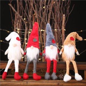 Decorações de Natal de pelúcia boneca boneca decoração criativa floresta velho de pé pequeno pose boneca criativo decoração presente das crianças OWE2778