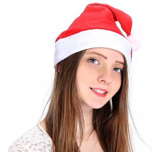 Santa Claus rouge Ultra Soft Spouse Christmas Cosplay Chapeaux Décoration de Noël Adulte Christmas Party Hats EWB2347