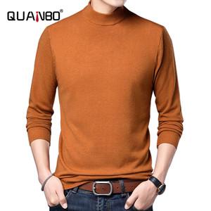 Quanbo 2020 Nouvelle Arrivée Turtelneck Thin Sweater Couleur Solid Slim Fit Elasticité Mode overs 7 couleur Marque Vêtements 0927