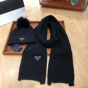 Prada hat Горячая распродажа зимней моды шляпа и шарф комплект дикий вязаный плюш + плюшевые шариковые шерстяные крючком шляпу оптом все-матч
