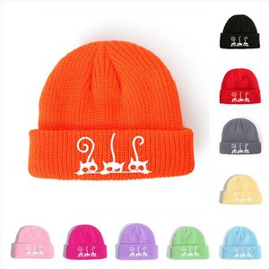 Winter Hats Beanie Bonnets Men Women Solid Woolen Cap Beanie Team Autumn Unisex Knitted Hat