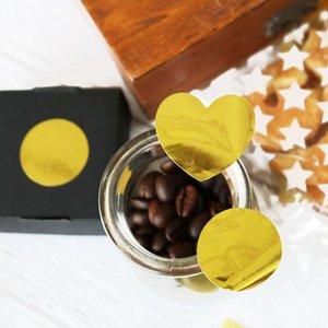 120pcs Lot Yaratıcı Yuvarlak Aşk Kalp Altın plakası Blank Çocuklar Diy Günlüğü Scrapbooking Dekorasyon Kırtasiye Sticker yxlEBY ffshop2001