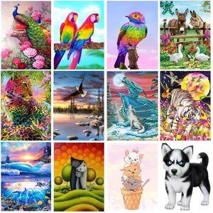 New Diamond Embroidery needlework diy Diamond painting Cross Stitch Kits Landscape animals full round diamond mosaic Room Decor