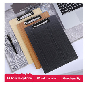 A5 Clipboard Writing Pad File Wooden File Clip Board Portable Menu Clipboard With Plate Clip Office Bill Menu Writing Board
