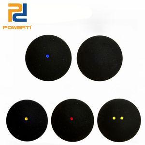 Powerti 6pcs / Box Eins / Zwei Gelb Rot Blau Dot Training Squash Ball Für Turnier Training Ball Hohe elastische Geschwindigkeit 201116