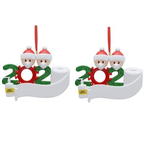 Christmas Ornament Personalized Survivor 2pc Family 2 3 4 5 Resin Decorations Masked Hand Washed Christmas Tree Hanging Pendant yxlVTK