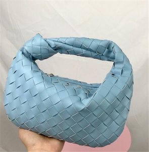 2020 new Classic Hand Woven Leather Handbags Cloud Shape Evening Bags Chain Clutch Womens Pouch Clip Handbag Crossbody Totes Free Delivery