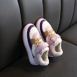 Calzado niños Moda Nueva llegada Niño Niña Invierno Otoño guardan los zapatos calientes zapatillas de deporte de los niños de empalme Piso 3 Colores