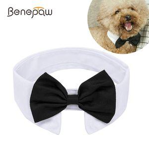 BenEPAW Ajustável Pet Dog Bowtie Collar Moda Confortável Partido Casamento Férias Cachorro Cachorro Gravata Gravata Para Cães Médios Pequenos 201030