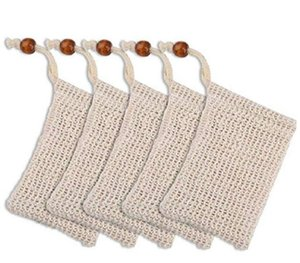 natural exfoliating mesh soap saver sisal soap saver bag pouch holder for shower bath foaming and drying over 100
