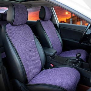 2 Pcs Car Seat Cover Cloak  2 Front or 1 Back Fit Most Car, Truck, Suv, Protect Automotive Interior(Purple)1