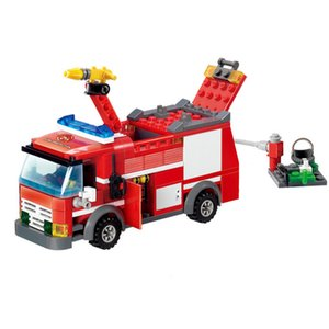 206pcs City Police Fire Fighting Rescue Fireman Truck Car Building Blocks Truck Educational Firefighter Bricks Toys For children