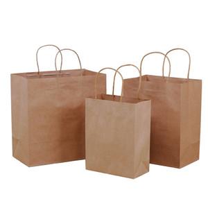 Kraft tote bag milk tea clothing store hand carry gift wrap gift baking support custom LOGO medium21*11*27