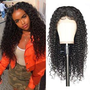 8A grau peruano virgem humana afro kinky peruca encaracolado cabelo 130 densidade cabelo humano dianteiro laço kinky afro perucas curly para mulheres negras