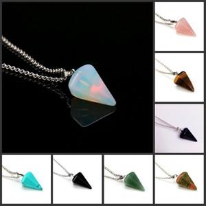Pendenti in pietra di guarigione naturale per collana cono di colonna esagonale cono nuovo nativo cristalli gioielli vintage di alta qualità 2 1ZX K2B
