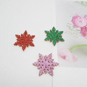 Décoration de Noël Fournitures Garland Cadeau Carte de voeux Matériel Accessoires Gold Powder Snowflake Pendentif Enfant Pince à cheveux Coiffe DHF2856