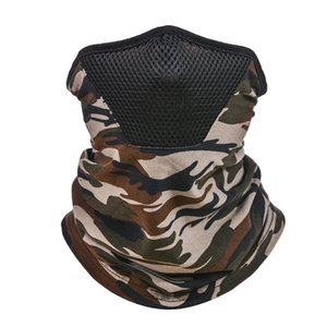 Camouflage Magic Scarves Turbans Neck Gaiters Head Wrap Fashion Sun Shade Face Cover Mask Head Mens Cycling Outdoors 4 5yt C2