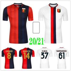 20 21 Genoa Soccer Jerseys GUMUS KOUAME SCHONE T.SANABRIA PINAMONTI KOUAME PANDEV RADOVANOVIC Custom Genova Cricket Football Shirts Uniforms