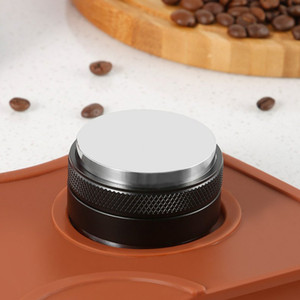 51/53 / 58mm Caffè Tamper Caffettiera Distributore regolabile Hammer Hammer Distributore Caffè Tamper Releader Q0107