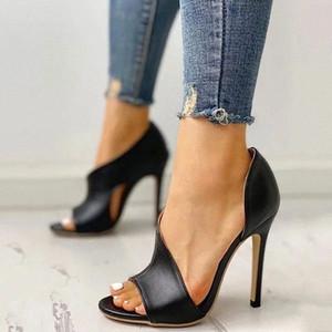 Schuhe für Frauen Sandalen High Heel Sommer plus Größe # 4E4X