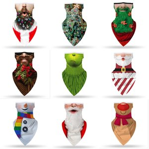 Chirstmas Украшение Бандана Маска для лица CoSply Santa Claus Masks Magic Headscarf Оголовье голова Визуализация Шеи Гетры Рождественские подарки