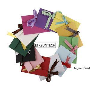 New arrival Small Ribbon Kraft Paper Envelope Bag Gift Wrap Bag 17.3cmx12.6cm wholesale LX0996