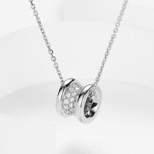 ФевральФрост Бренд Fancy Небольшой кулон Модное женское ожерелье INLAID CZ Присутствует для подруги Lover DiTa August Simple Niche Brand