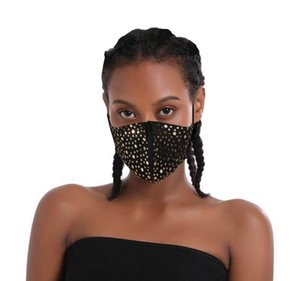Face Mask Glitter Sequin Covering Sparkly Washable Reusable Bling women Face Covers  soft cotton black