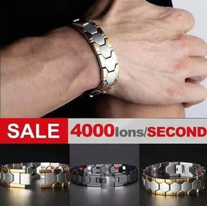 Natural hot Healing Point Chakra stainless steel Acupoint Massage Magnetic Moxibustion Therapy germanite four in one healthy bangle bracelet