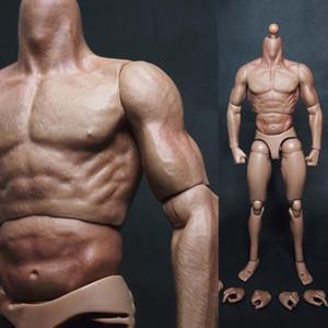 """1/6 Maßstab männlich Mann Jungen Körper Figur militärische Brust muskulös ähnlich wie TTM19 für 12 """"Soldaten Action Figure Head Toys 201202"""