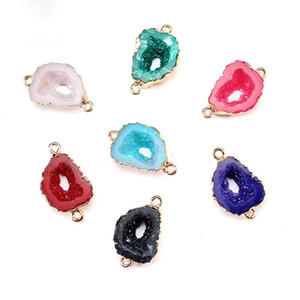 2020 New Fashion Irregularity Resin Stone Pendents Jewelry Accessories For Women Colorful Necklace Bracelet Pendent Wholesale