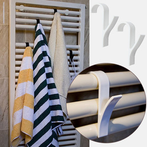 High Quality Hanger For Heated Towel Radiator Rail Clothes Hanger Bath Hook Holder Percha Plegable Scarf Hanger white 6pcs.#6pcs