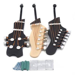 3pcs set Multi-purpose Retro Style Guitar Heads Home Hooks Resin-made Clothes Hat Hangers Durable Wall-mounted Bag Purse Holder