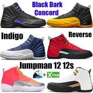 12 12s Chaussures De Basketball Pour Hommes 2019 Nouveau Gym Rouge Michigan College Marine Classique CNY PLAYOFF Designer XII Sport Baskets