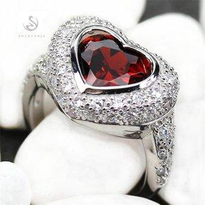 FLEURE ESME Vintage Femmes Engagement Anneaux de mariage Belle Bohême Rose Rose Cubic Zirconia Rhodium Rhodium R915 R916 Taille 6 7 8 9