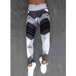 Donne Sport Sport Leggings High Waist Elastic Printing Pantaloni fitness Push Up Running Sporting Workout Leggins femmina 270010