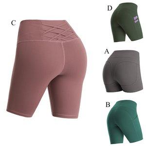 Sconti Pantaloni Yoga Pantaloni Donne Leggings Seamless Leggings Sweatspants Tasche ad alta vita Abbigliamento fitness Lady Girls Plus Size Style Seven