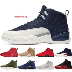2019 12 12s Gym red Michigan Bulls mens Basketball shoes Flu Game UNC Wings The Master Taxi men sports sneakers women trainers US 5.5-13