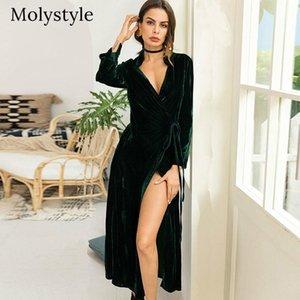 Molystyle 2021 automne hiver nouveau manteau pour femmes la mode de grande taille peut être une robe ou une manchette de manches longues soind lâche
