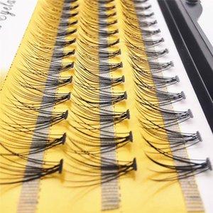 Vôsaidi 60pcs 0.10mm Thickness Single Handmade Fish Tail False Lashes Thick Natural Long Black Individual False Eyelashes Fake Eye Lashes