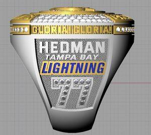 HEDMAN 2020 Tampa Bay Stanley Cup Team Championship Anneau GLORIA avec la boîte en bois Sport Hommes Fan Souvenir Cadeaux en gros Drop Shipping