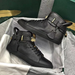 2019 NOUVEAUX MODE DE MODE DE MODE DE MODIES SERRES DE CHAUSSURES Appartements Véritable Cuir Arena Sports Sneakers Luxe High Top Designer Casual Snekers Taille 38-46