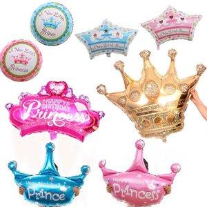 Slsgzx Mini Grand Gold Crown Princess Crown hélium Ballon Foil ballons pour Joyeux anniversaire fête de mariage Décoration bébé yxleJi ly_bags