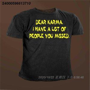 Caro Karma Ho una lista di persone vi siete persi divertente Karma T-shirt 53.162.310