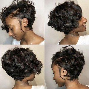 Lace Wigs Short Pixie Cut Wig Curly Human Hair For Women Beaudiva Remy High Density Glueless