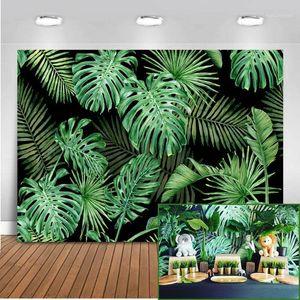 Hintergrundmaterial Mehmofoto Dschungel Wald Pografie Kulissen Frühlings-PO-Stand Studio-Safari-Party-Kulisse Vinyl-Tuch Nahtloses 8121