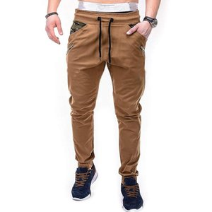 New Arrivals Men's Cargo Pants Camouflage Splicing Lanyard Belt Casual Trousers Men Streetwear Joggers Hot Sale