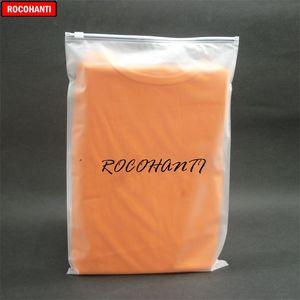 Rocohanti 100x مخصص مطبوعة بلوك أبيض المنزلق ختم البريدي قفل أكياس بلاستيكية سستة واضح بلوري حقيبة تسوق حقيبة 30x40cm 201013